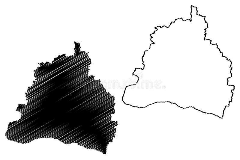 罗马尼亚,Sud背心奥尔特尼亚的多尔日县管理部门发展区域地图传染媒介例证,杂文剪影 皇族释放例证
