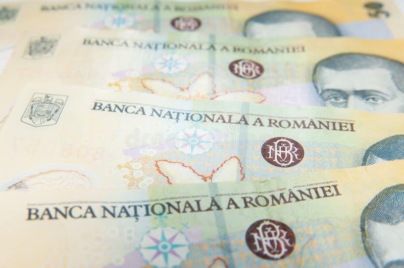 罗马尼亚货币 库存图片