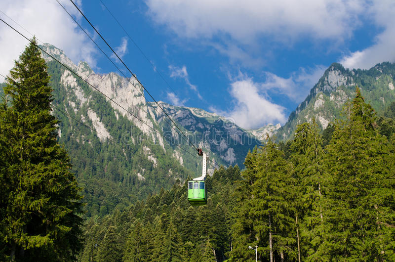 罗马尼亚- Bucegi山,一部分的喀尔巴阡山脉 免版税库存照片