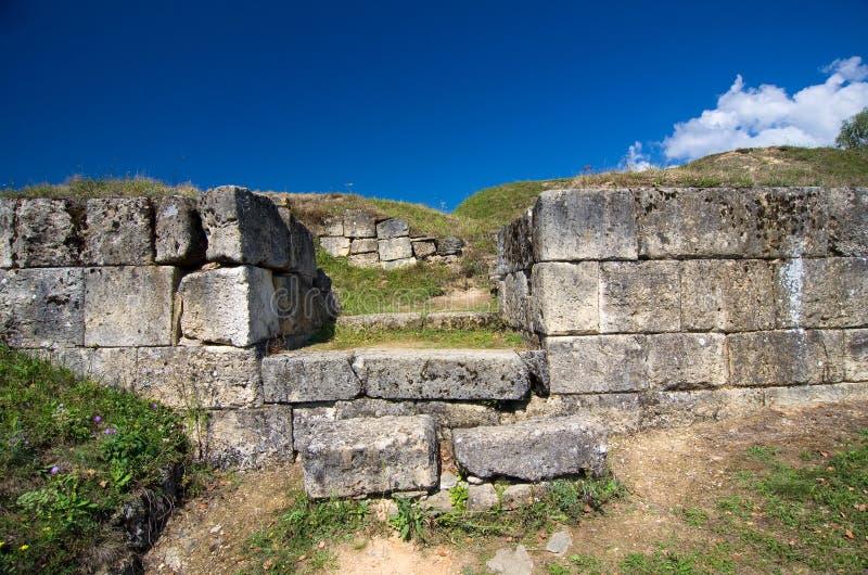 罗马尼亚- Costesti-Blidaru Dacian堡垒  库存照片