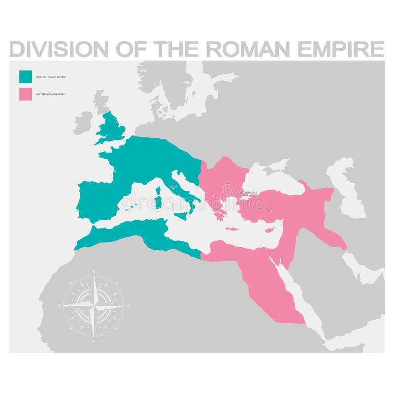 罗马帝国分部的地图 皇族释放例证