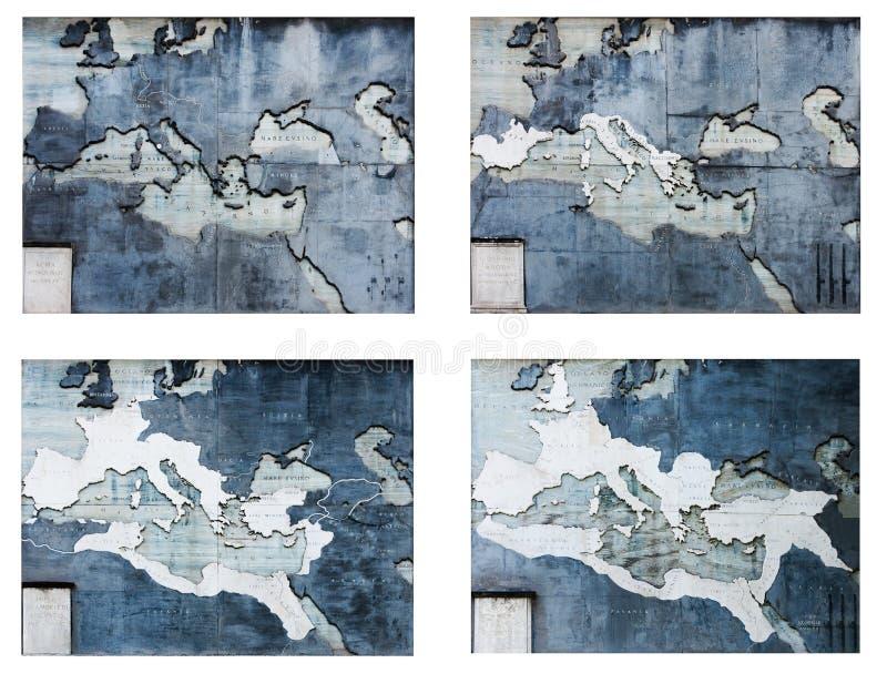 罗马帝国地图 皇族释放例证