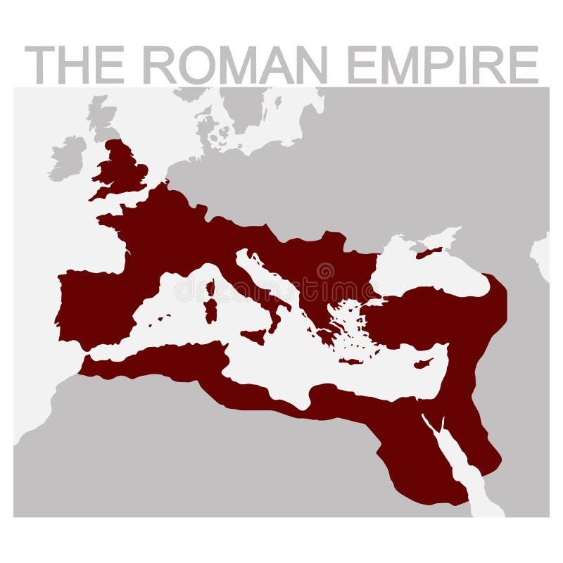 罗马帝国的地图 库存例证