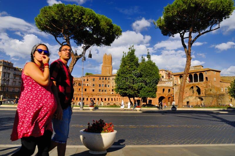 罗马广场,罗马, ITALY-SEPTEMBER 24 库存照片