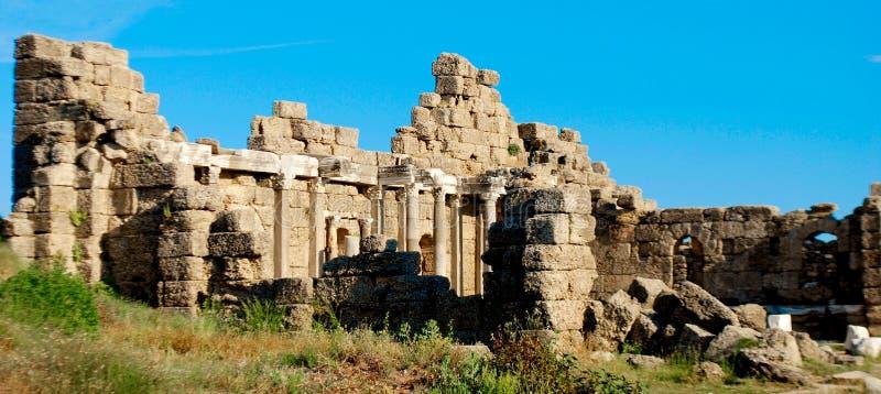 罗马废墟在土耳其 免版税库存图片