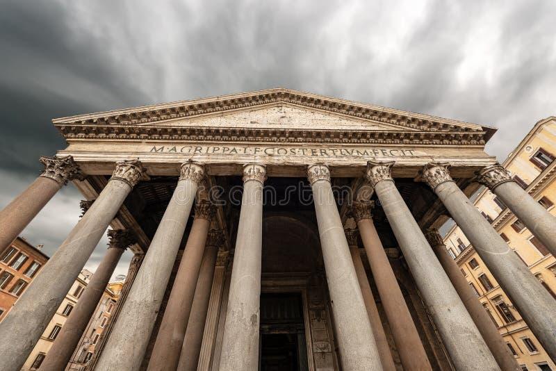 罗马意大利-古老罗马寺庙万神殿  免版税库存照片