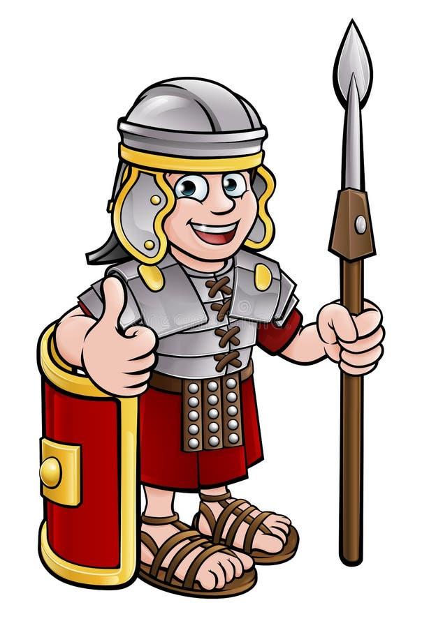 罗马战士漫画人物 向量例证