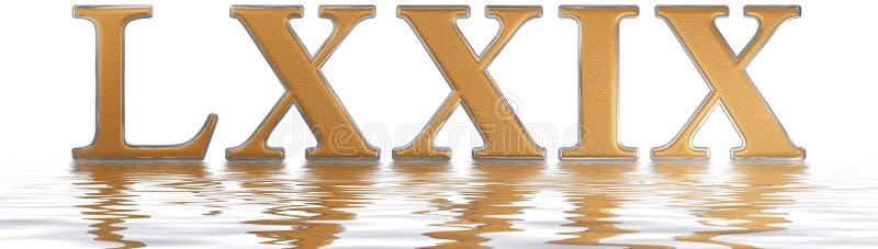 罗马数字LXXIX, novem和septuaginta, 79,七十九, ref 皇族释放例证