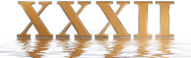 罗马数字XXXII,二重奏和triginta, 32,三十二,被反射 皇族释放例证