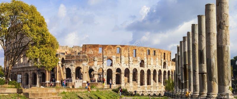 罗马斗兽场的全景图象 免版税图库摄影