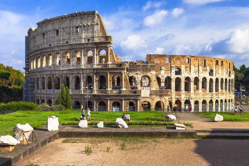 罗马斗兽场的全景图象 免版税库存图片
