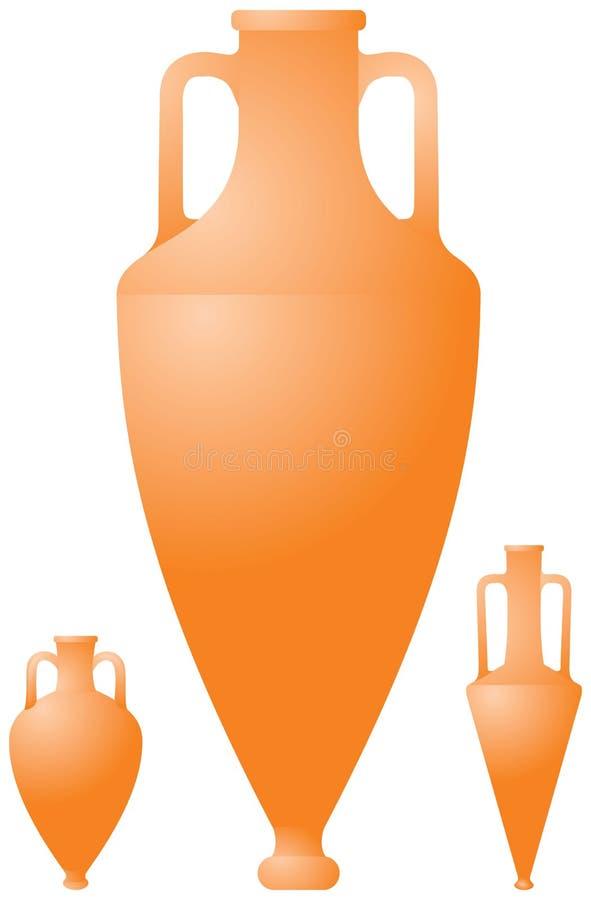 罗马油罐古老陶瓷希腊的瓦器 皇族释放例证