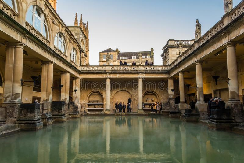 罗马浴,公开浴房子在罗马时期 库存照片