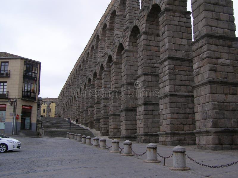 罗马渡槽在塞戈维亚西班牙 免版税库存图片