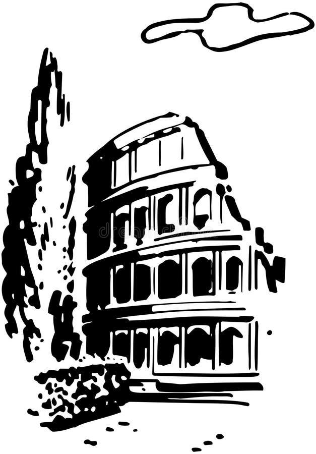 罗马的大剧场 向量例证
