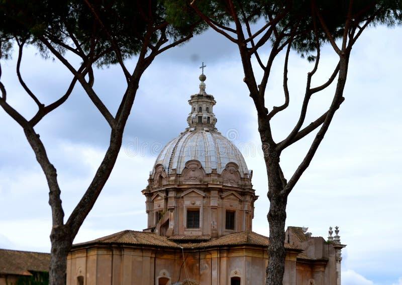 罗马的大教堂 免版税库存图片