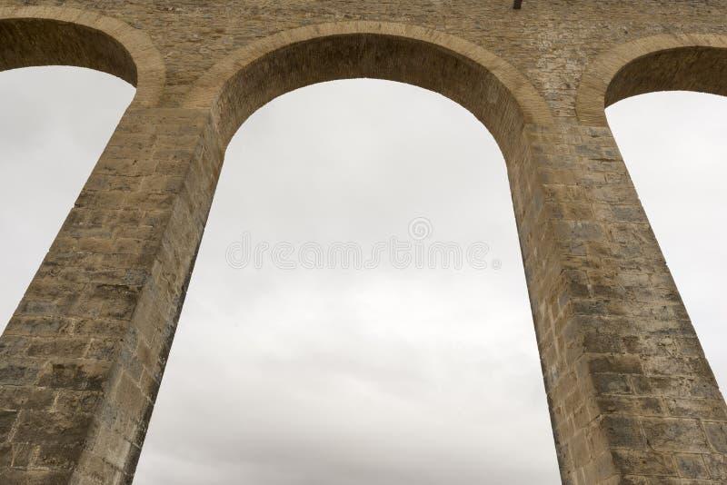 罗马的渡槽 库存照片