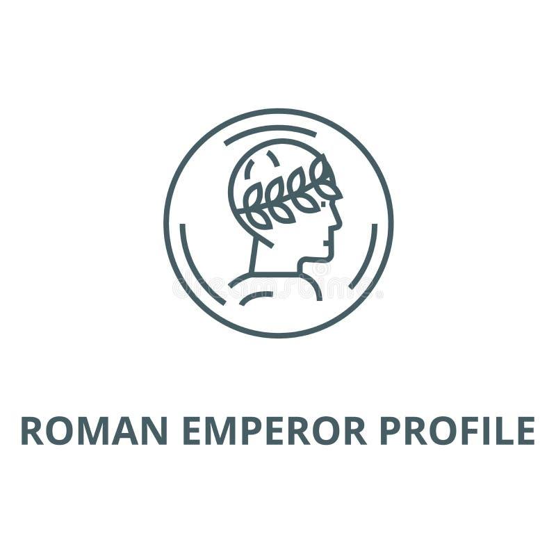 罗马皇帝外形传染媒介线象,线性概念,概述标志,标志 向量例证
