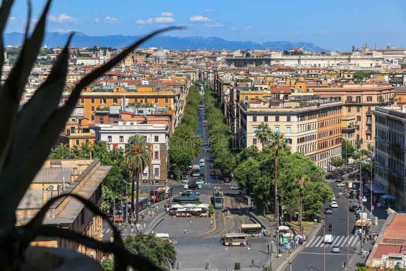 罗马看法从Castel Sant `安吉洛的 库存图片