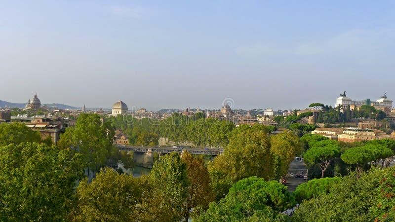 罗马看法从Aventine小山的 免版税库存图片