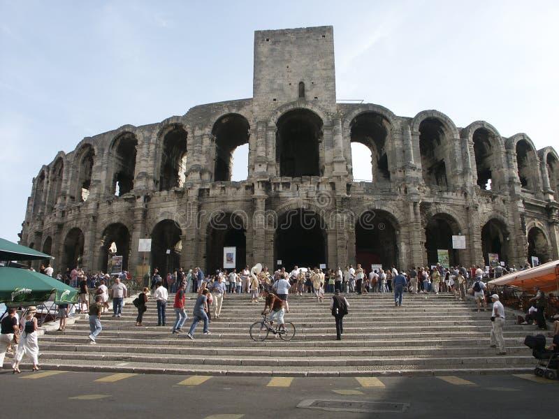 罗马竞技场在阿尔勒法国 库存图片