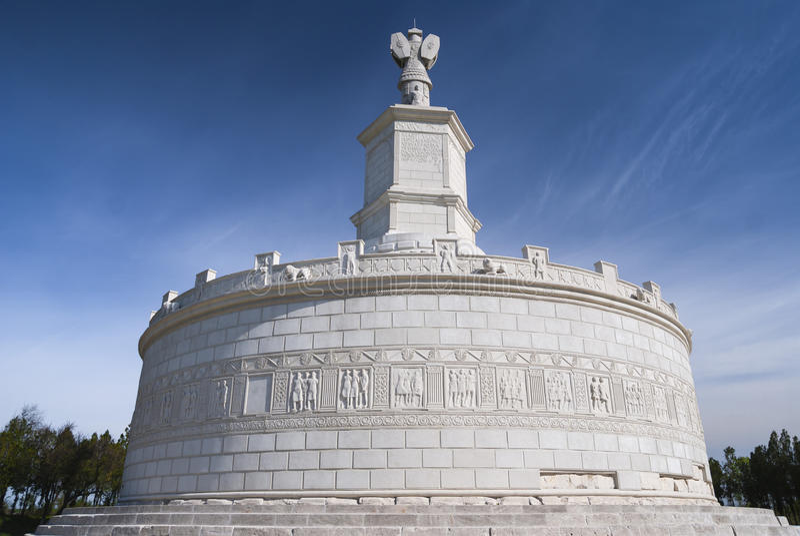 罗马纪念碑在Adamclisi,罗马尼亚 库存照片