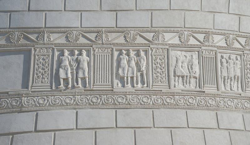 罗马纪念碑在Adamclisi,罗马尼亚 图库摄影