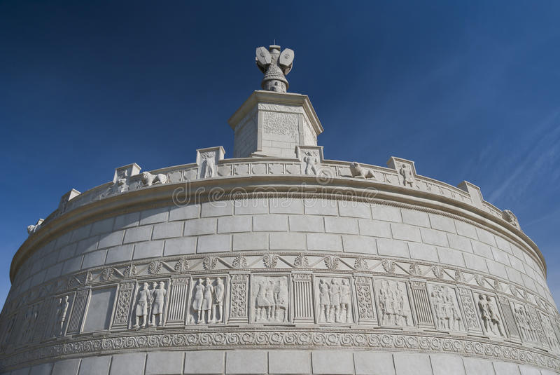 罗马纪念碑在Adamclisi,罗马尼亚 库存图片