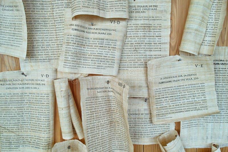 罗马纸卷复制 免版税库存图片