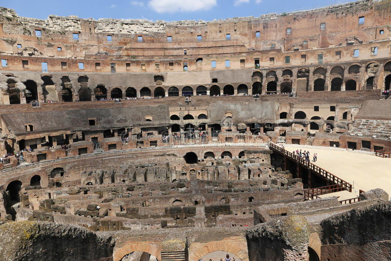 罗马罗马斗兽场内部,罗马 库存图片