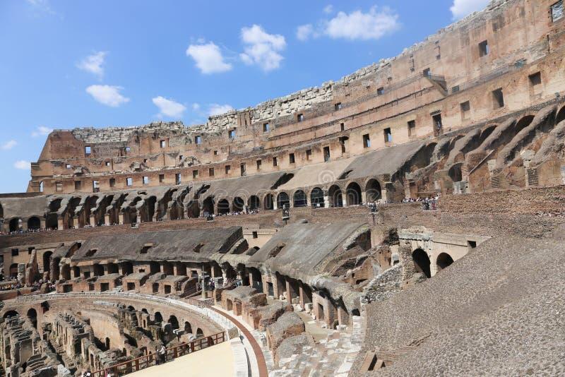 罗马罗马斗兽场内部,罗马 图库摄影
