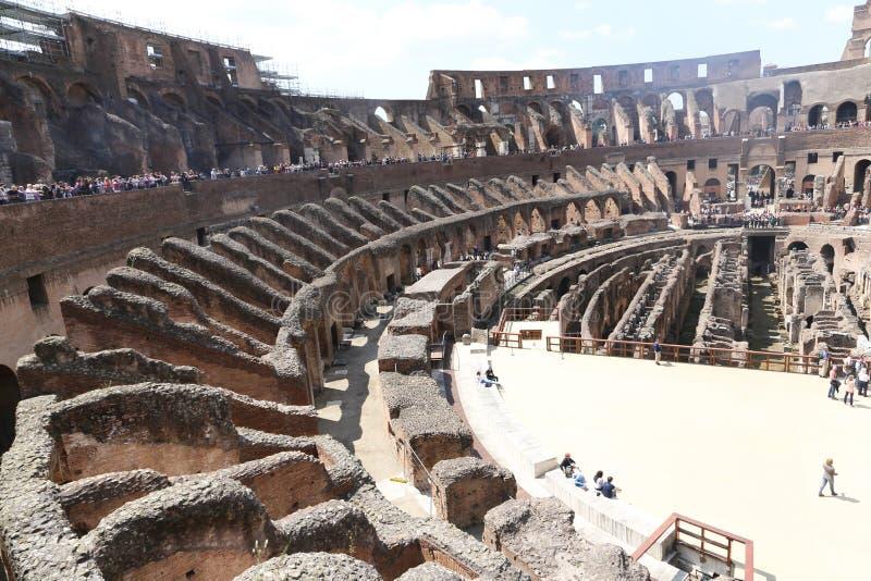 罗马罗马斗兽场内部,罗马 库存照片