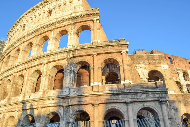 罗马罗马斗兽场或Coliseo在罗马,意大利 Flavian圆形露天剧场 免版税库存图片