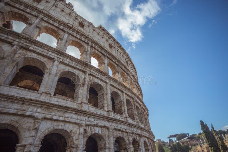罗马罗马斗兽场的细节在意大利,欧洲 免版税库存图片