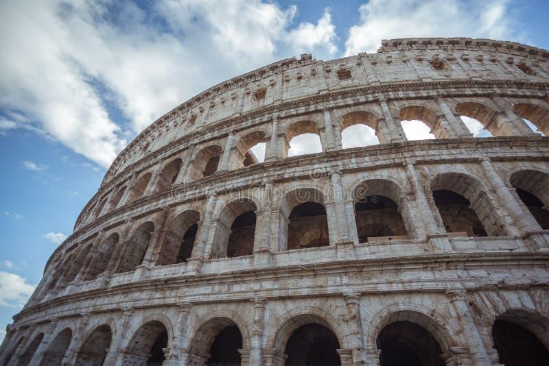罗马罗马斗兽场的细节在意大利,欧洲 库存照片