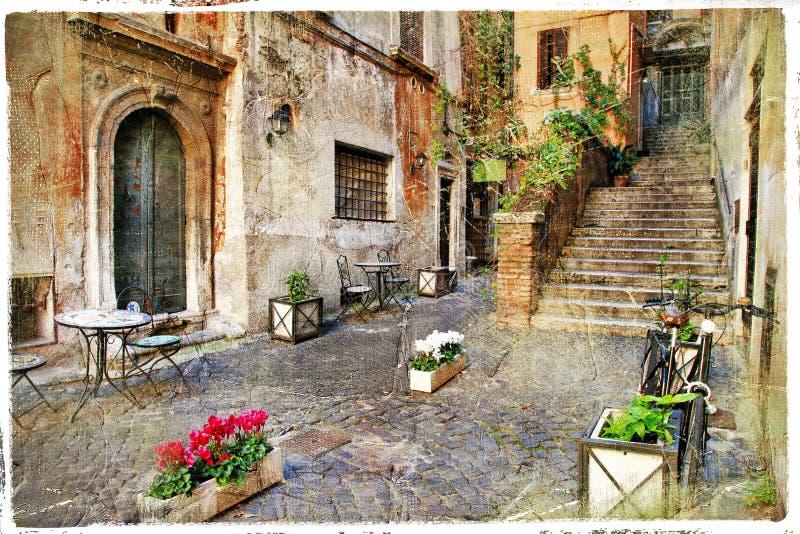 罗马老街道  免版税库存图片