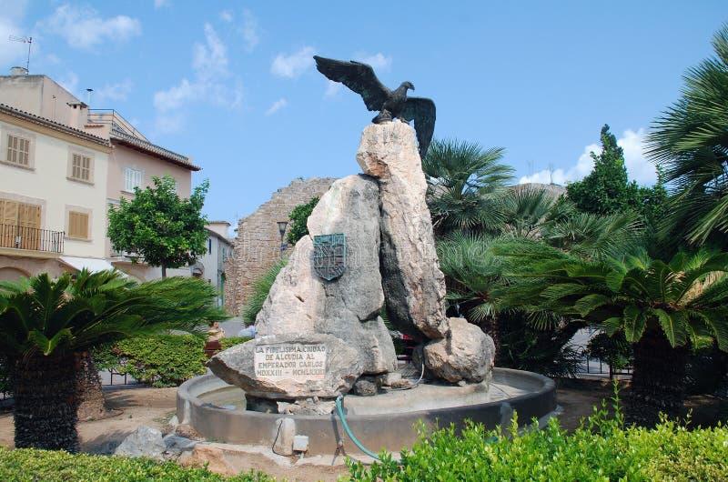 罗马老鹰雕塑,阿尔库迪亚 图库摄影
