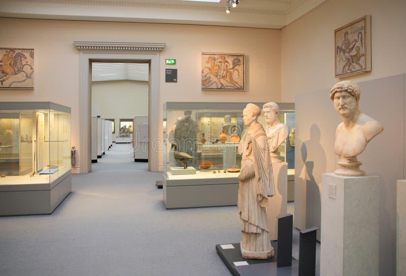 罗马艺术英国的博物馆 免版税图库摄影