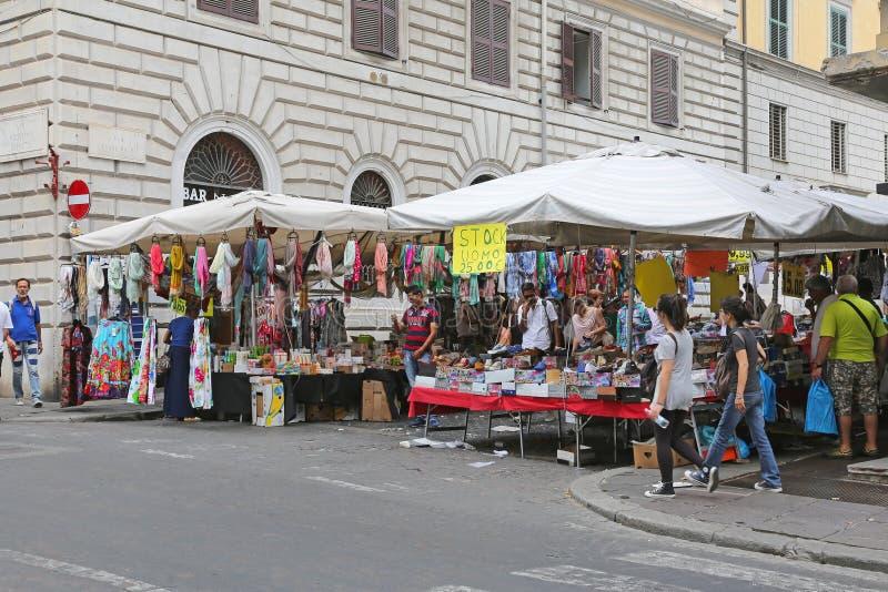 罗马街市 库存图片