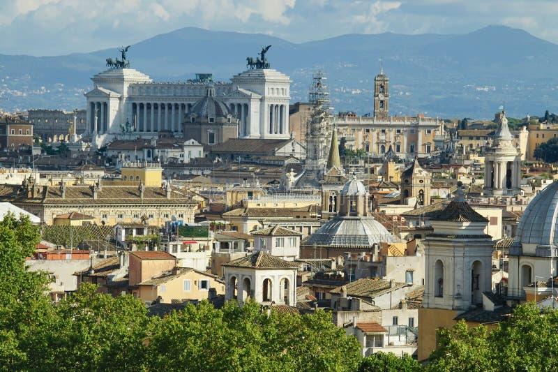 罗马视图 免版税库存图片