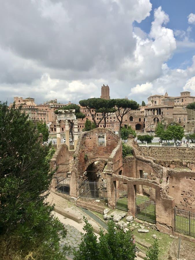 罗马论坛,观点 库存照片