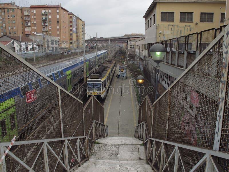 罗马铁路设备 免版税图库摄影