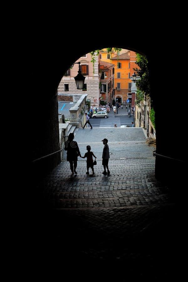 罗马隧道 免版税库存照片
