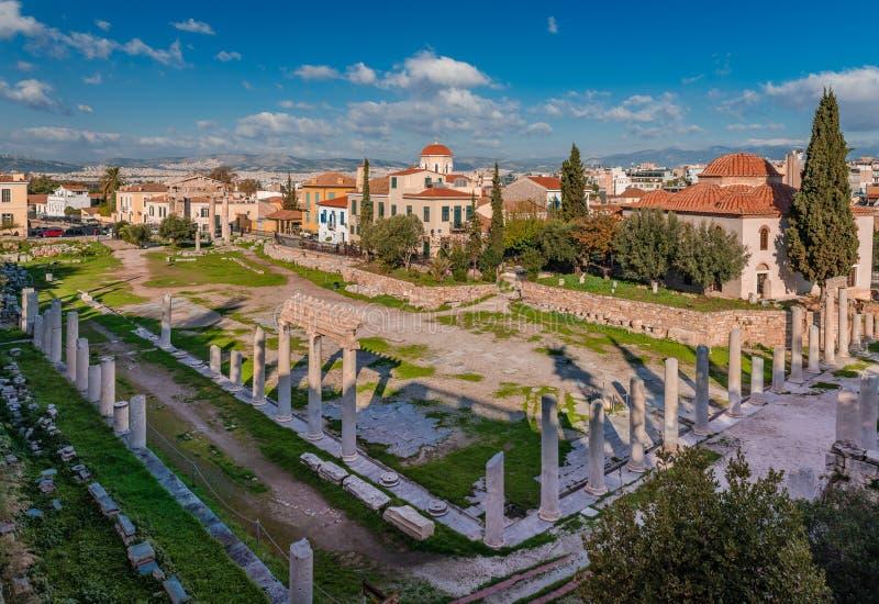罗马集市在雅典 图库摄影