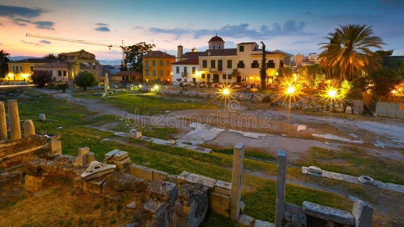 罗马集市,雅典 免版税库存图片