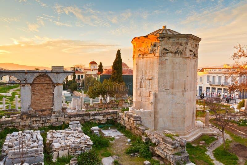 罗马集市,雅典 免版税图库摄影