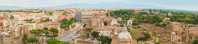 罗马鸟瞰图全景  免版税库存照片