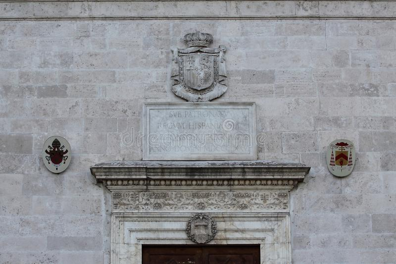 罗马,圣彼得罗在蒙托里奥, Janiculum小山的罗马式教会 库存图片