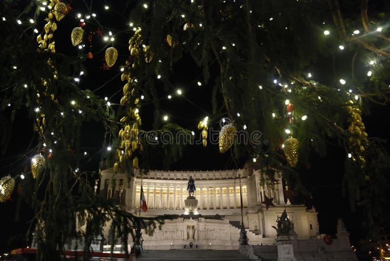 罗马,圣诞节在Venezia广场 免版税图库摄影