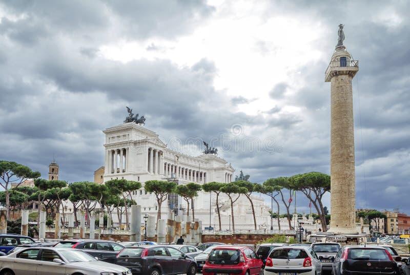 罗马,意大利,对维托里奥・埃马努埃莱二世的国家历史文物 免版税图库摄影